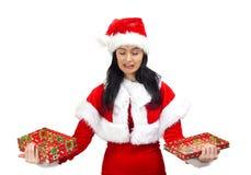 Schreiender Weihnachtsmann Stockbild