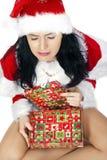 Schreiender Weihnachtsmann Lizenzfreies Stockfoto