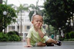 Schreiendes asiatisches Schätzchen Lizenzfreies Stockbild