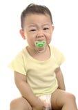 Schreiendes asiatisches Schätzchen Stockfoto