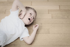 Schreiendes Kind in Tränen, Druck und Krise Stockfoto