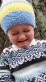 Schreiendes Kleinkind Stockfoto