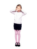 Schreiendes Mädchen Lizenzfreies Stockfoto