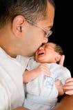 Schreiendes neugeborenes Schätzchen Lizenzfreies Stockbild