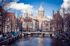 Schreierstoren-Turm in Amsterdam Stockfotos