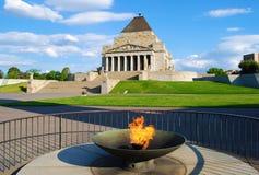 Schrein der Erinnerung Melbourne stockbild