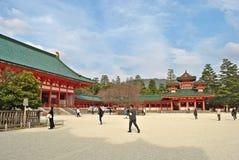 Schrein Heian Jingu in Kyoto, Japan Lizenzfreie Stockbilder