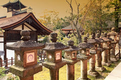 Schrein Kasuga Taisha, Nara, Japan Stockbilder