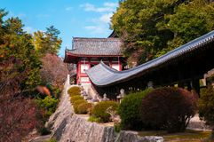 Schrein Kibitsu Jinja - Okayama - Japan Lizenzfreie Stockfotos