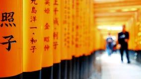 Schrein oder Fushimi Inari Taisha, ein shintoistischer Schrein Fushimi Inari in Kyoto, Japan Ein japanisches Monument, berühmt fü stock footage