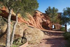 Schrein von Mare de Deu de la Roca, in Mont-roig Del Camp, Spanien Lizenzfreie Stockfotografie