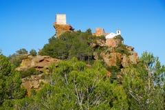 Schrein von Mare de Deu de la Roca, in Mont-roig Del Camp, Spanien Stockbilder