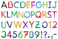 schriftkegel Alphabet stock abbildung