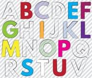 schriftkegel Alphabet beschriftet Handels lizenzfreie abbildung
