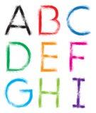 schriftkegel Alphabet #1 Buchstaben A-I vektor abbildung