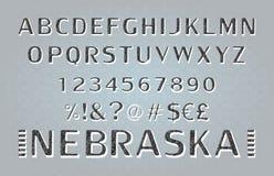 schriftkegel Alphabet index schriftbild stock abbildung
