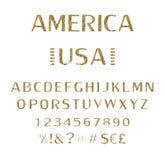 schriftkegel Alphabet index schriftbild vektor abbildung