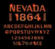 schriftkegel Alphabet index schriftbild lizenzfreie abbildung