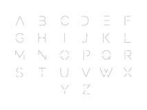 schriftkegel Typografisches Alphabet mit vibrierender Steigung Modernes futuristisches Schriftbild vektor abbildung