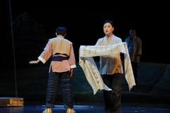 Schriftliche Beanstandung Jiangxi-Oper eine Laufgewichtswaage Stockbild