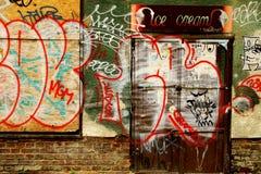 Schriftliche Wand Stockfoto