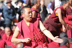 Schriftsdebattensitzung von Sera Monastery Stockfotografie