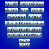 Schriftsetzen auf dem Zähler mit veränderbaren Buchstaben stock abbildung