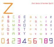 Schrifttyp stock abbildung