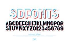 Schrifttyp 3D vektor abbildung