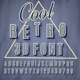 Schrifttyp 3D Lizenzfreie Stockfotografie