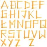 Schrifttyp gebildet von den Teigwaren Lizenzfreie Stockfotografie