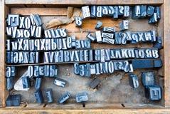 Schrifttypen Stockbild