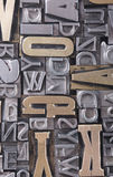 Schrifttypen bacground lizenzfreie stockfotografie