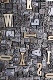 Schrifttyphintergrund Stockfoto