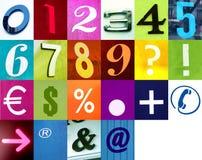 Schrijf de aantallen met dit ondertekent Stock Foto