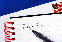 Schrijf een brief aan iemand stock foto