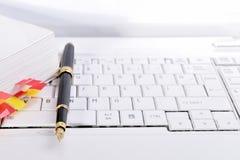Schrijf equipament stock fotografie