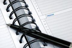 Schrijf sommige nota's over de dagontwerper royalty-vrije stock afbeeldingen
