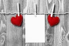 Schrijf sommige woorden van liefde Stock Fotografie