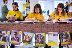 Schrijf voor Rechten, grootste rechten van de mensgebeurtenis van Amnesty International royalty-vrije stock afbeeldingen