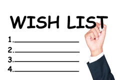 Schrijf wenslijst Stock Fotografie