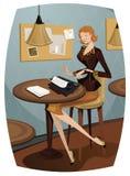 Schrijfmachine stock illustratie