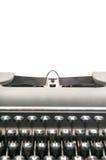 Schrijfmachine en het schrijven ruimte Stock Afbeeldingen