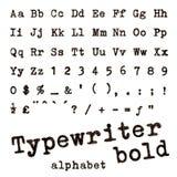 Schrijfmachine gewaagd alfabet Stock Foto's