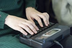 Schrijfmachine stock foto's