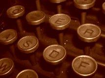 Schrijfmachine - oude wijnoogst stock fotografie