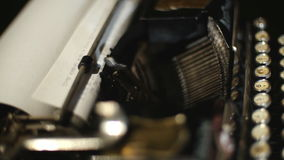 Schrijfmachine retro druk Royalty-vrije Stock Foto's