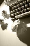 Schrijfmachine zonder inspiratie Stock Afbeelding