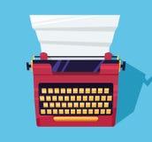 Schrijfmachinekleur op de lijst stock afbeeldingen