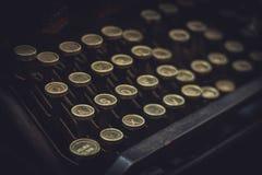 Schrijfmachineknopen Stock Afbeelding